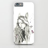 iPhone & iPod Case featuring Rabbit by Jessica Feral