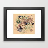 Zentangle Floral mix Framed Art Print
