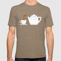 Tea Time! Mens Fitted Tee Tri-Coffee SMALL