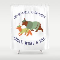 Robin Hood and Little John Shower Curtain