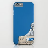 iPhone & iPod Case featuring Will like your Facebook page for € by Lee Grace Illustration
