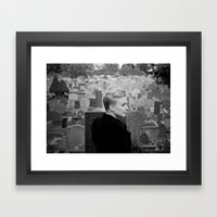 Lady of the churchyard Framed Art Print