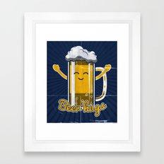 Beer Hugs Framed Art Print