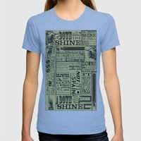 Down With The Shine Womens Fitted Tee Athletic Blue SMALL