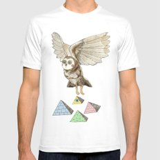 Journey White SMALL Mens Fitted Tee