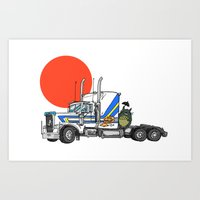 No Trouble In Little Jap… Art Print