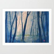 Nel bosco Art Print