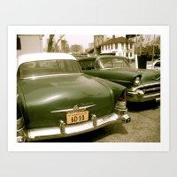 Vintage Cars In Brooklyn Art Print