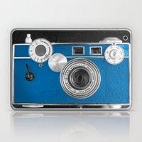 Dazzel blue Retro camera Laptop & iPad Skin