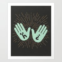 Hi Fives Art Print