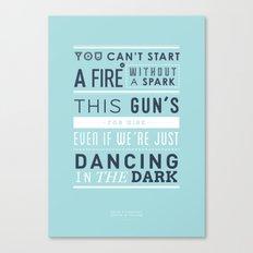 Lyrical Type - Dancing In The Dark Canvas Print