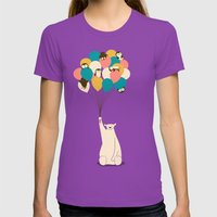 Penguin Bouquet Womens Fitted Tee Ultraviolet SMALL