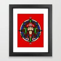Mario's Melancholy Framed Art Print