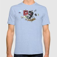 Bad Comma Mens Fitted Tee Tri-Blue SMALL
