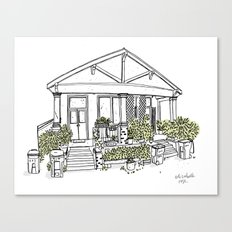 White Green House Canvas Print