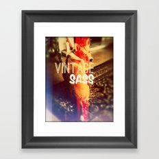 VINTAGE SASS Framed Art Print