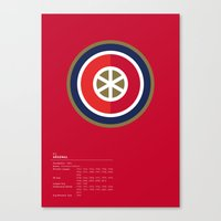 Arsenal Geometric Logo Canvas Print
