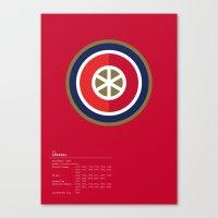 Arsenal geometric logo Canvas Print