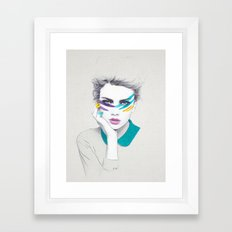War Paint Sally Framed Art Print