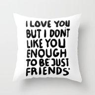 JUSTFRIENDS Throw Pillow