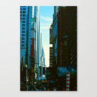 Busy City Canvas Print