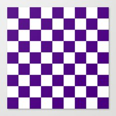 Checker (Indigo/White) Canvas Print