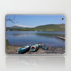 The Lake District - Boating on the Lake Laptop & iPad Skin