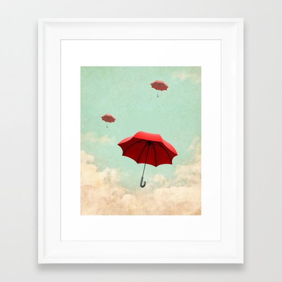 rising into the blue Framed Art Print