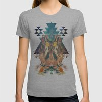 Cosmic Dance Womens Fitted Tee Athletic Grey SMALL