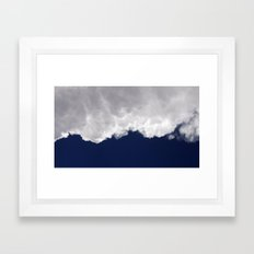 Rumble Blue Framed Art Print
