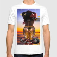 the sun set Mens Fitted Tee White SMALL