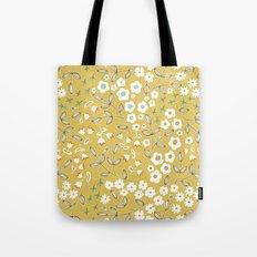 Ditsy Mustard Tote Bag