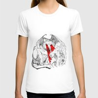 Lethal Optical Lasers Cat Womens Fitted Tee White SMALL