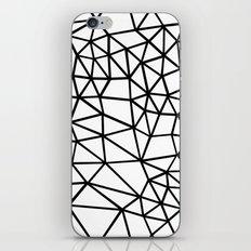 Segment Dense Black on White iPhone & iPod Skin