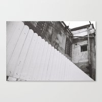 Diagonal Fence Canvas Print