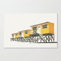 On Paper: Tres Amarillos Canvas Print
