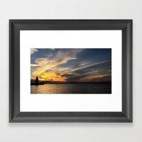 Sunset Cruise Framed Art Print