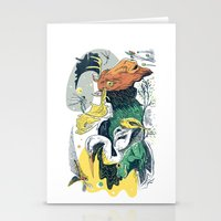 Animals in Nature Stationery Cards