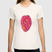 Artsy Heart Womens Fitted Tee Natural SMALL