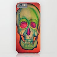Watercolor skull/Green iPhone 6 Slim Case