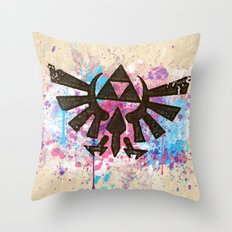 Splash Triforce Emblem Throw Pillow