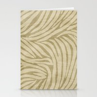 Zebra Print Sand Stationery Cards