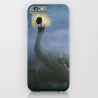 iPhone & iPod Case featuring Crowned Crane by TaLins
