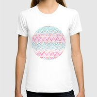Lido Chevron Womens Fitted Tee White SMALL