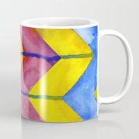 Watercolor Chevron Mug