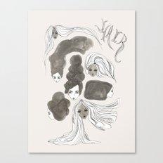 Hair 1 of 3 Canvas Print