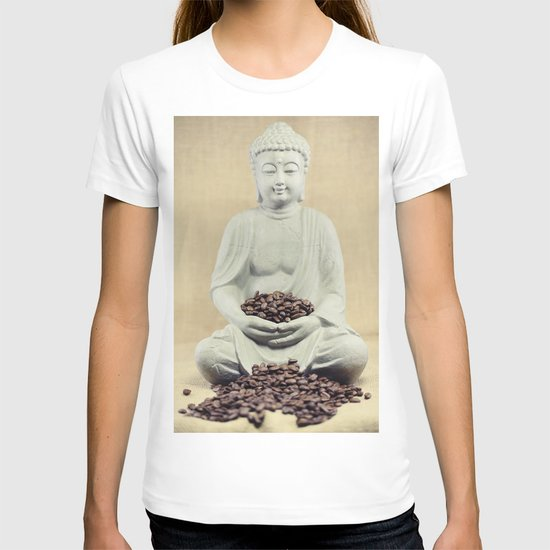 Coffee beans Buddha 3 T-shirt