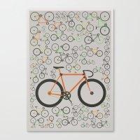 Fixed Gear Bikes Canvas Print