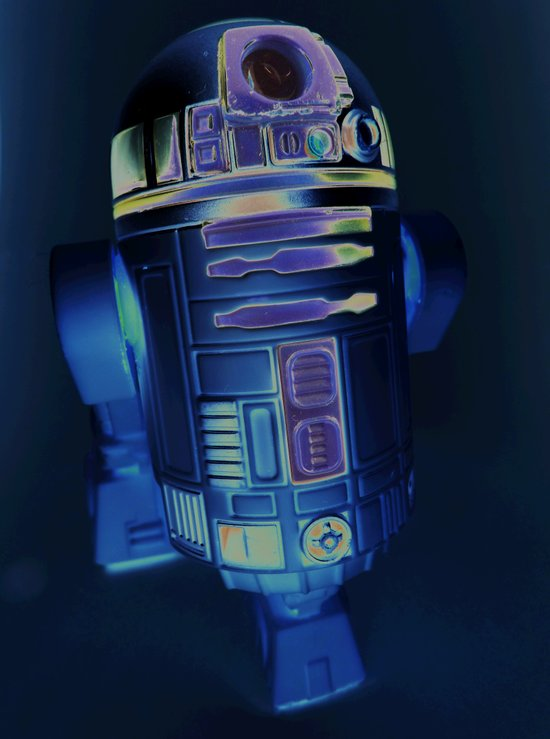 A Negative Droid You Are Looking For, Hmmmm? Art Print