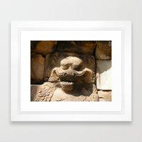 Angkor Wat wall carving Framed Art Print